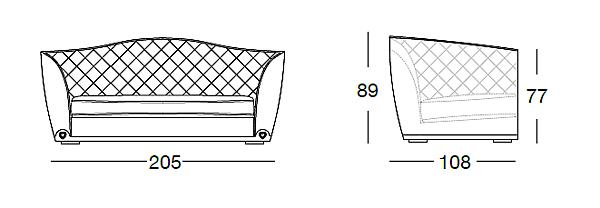Диван LONGHI (F.LLI LONGHI) W 553