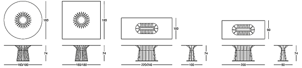 Стол LONGHI (F.LLI LONGHI) 106_2