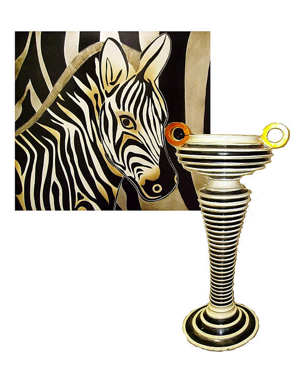 Комплект декора  Lam Lee - картина и кашпо
