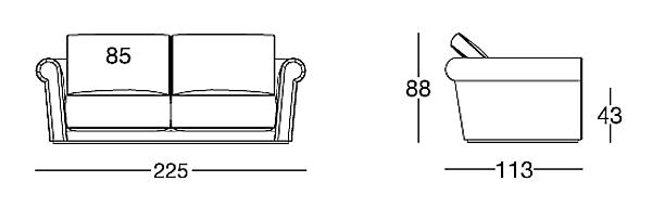 Диван LONGHI (F.LLI LONGHI) W 540