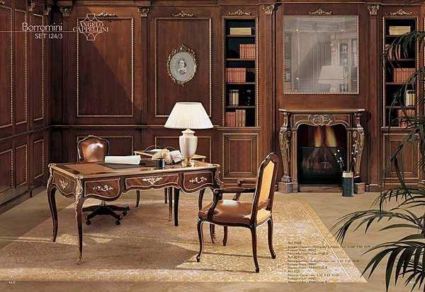 Письменный стол с 3 ящиками и столешницей из розового дерева.