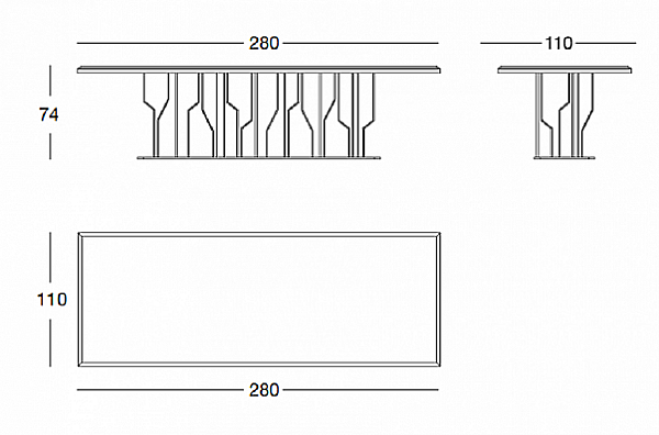 Стол LONGHI (F.LLI LONGHI) T 120