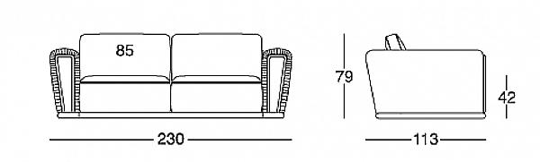Диван LONGHI (F.LLI LONGHI) W 550