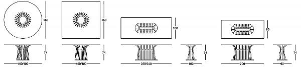 Стол LONGHI (F.LLI LONGHI) 106_1