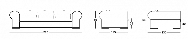 Диван LONGHI (F.LLI LONGHI) W 505