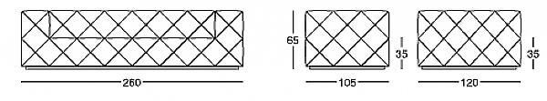 Диван LONGHI (F.LLI LONGHI) W500_2